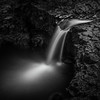 Hebi-daru Waterfall In Monochrome