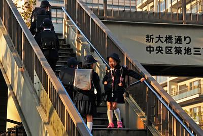 Schoolkids in Tokyo