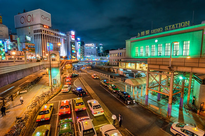 Taxis at Ueno Station