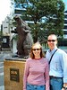 Terry & Carol in front of Godzilla statue