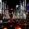 Ginza by night is a colorful corridor of technology and fashion.