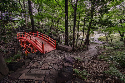 The Path up to Tsutenkyo at Koishikawa Garden