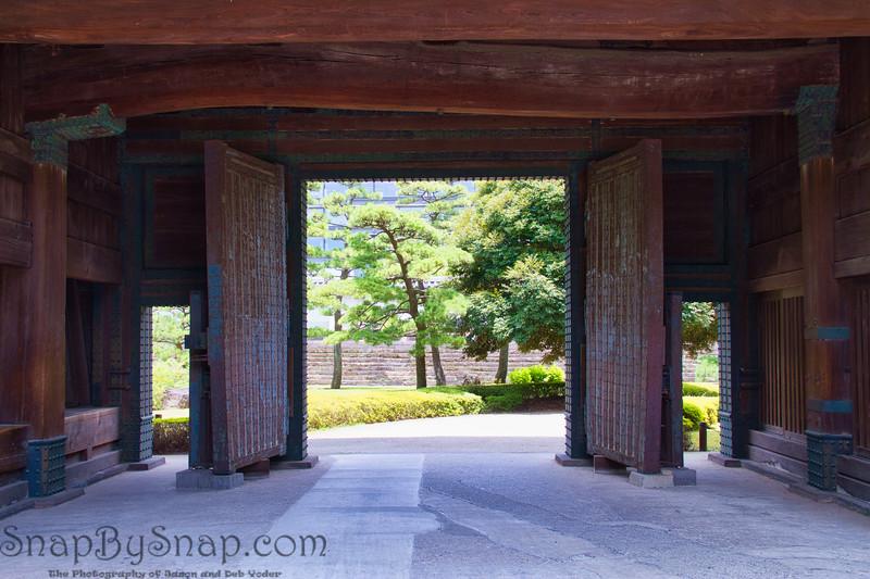 Big Doors Leading to Japanese Garden