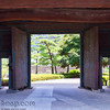 Big Doors Leading to Japanese Garden