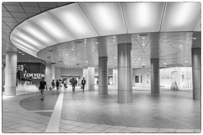 Shiodome train station