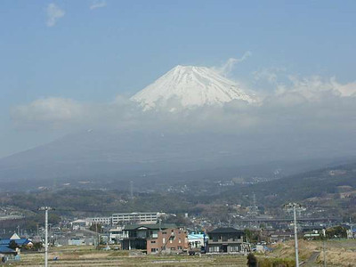 Glimpses of Mt Fuji were quite rare from the Tokyo area