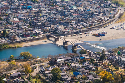 Kintai Bridge Area From Iwakuni Castle