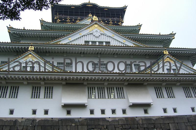 Osaka Castle Upclose, Osaka, Japan