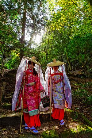 Pilgrimage at the Shinomiya Shrine (Miyajima, Japan)