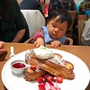 red bean stuffed strawberry french toast. YUM