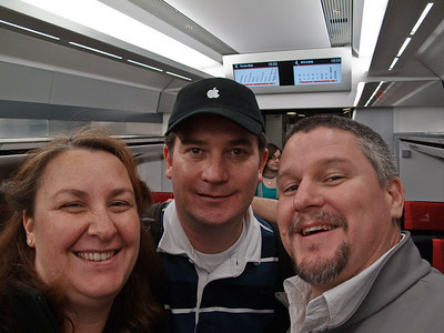 With Olly on the Narita express just before leaving.