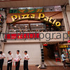 Outside the Pizza Shop, Motomachi Arcade, Kobe, Hyogo-ken, Japan