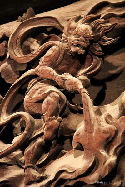 fujin (god of wind), shibamata taishakuten, tokyo / 風神、柴又帝釈天、東京