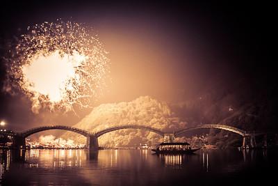 Water Festival, Kintai bridge, Iwakuni Japan