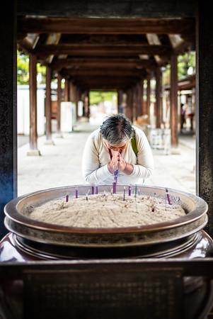 Pilgrim at the Zentsuji Temple (Kagawa  Prefecture, Japan)