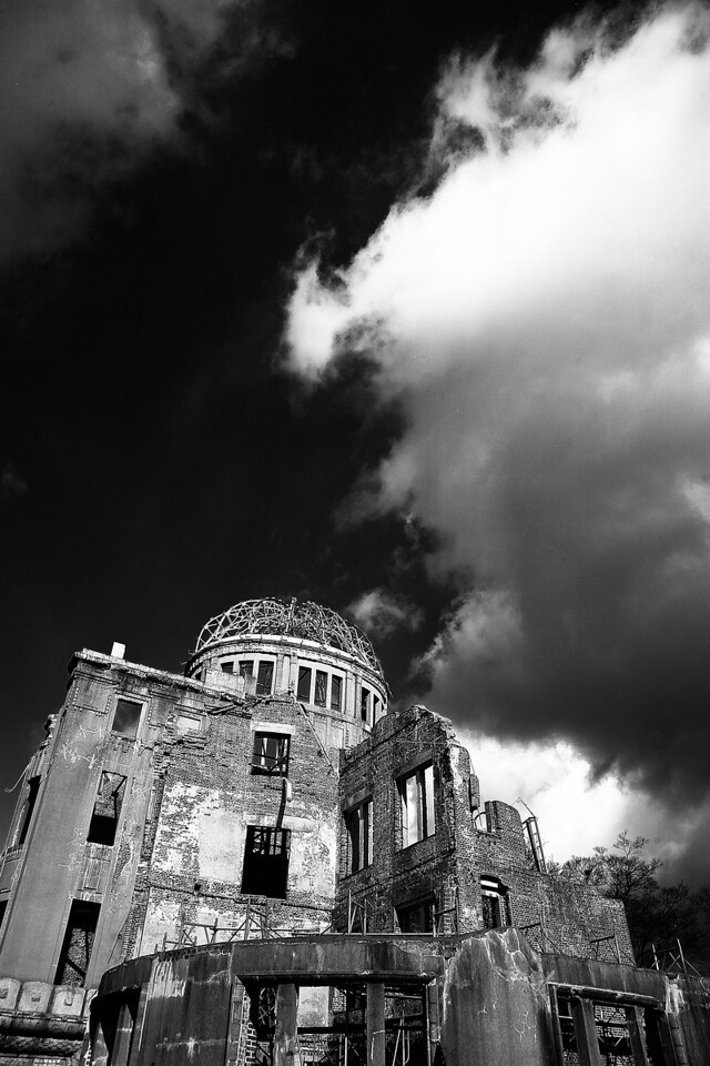 The Hiroshima dome—one of the only structures left standing.