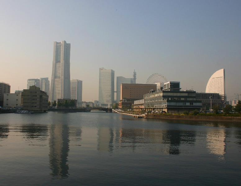 Minato Mirai area in Yokohama.