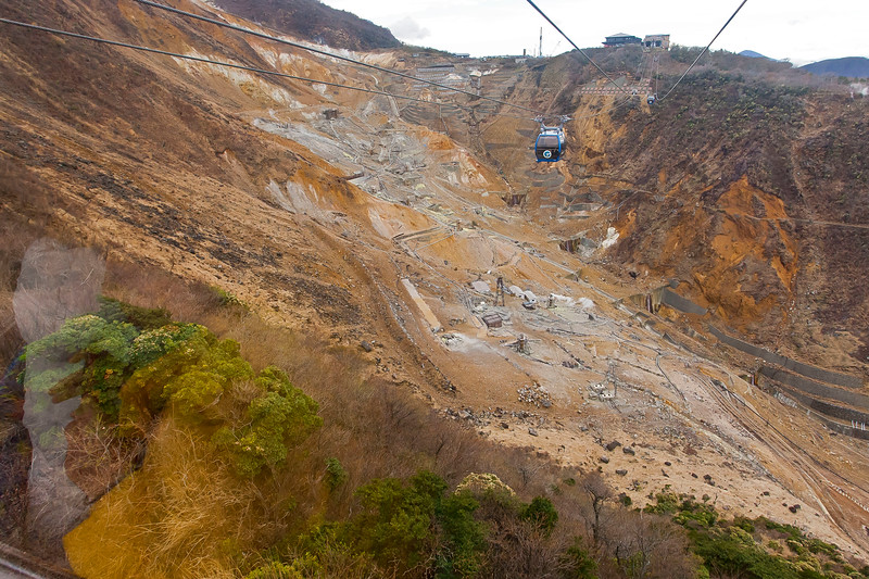 Open volcanic area in Hakone, Japan