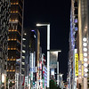 Walking in the Ginza district at night