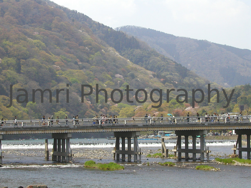 Crossing the Hozu-gawa (river), Arashiyama, Kyoto-fu, Japan
