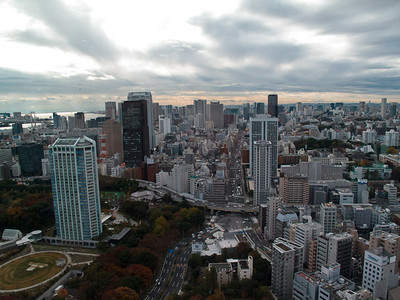 One of the views from the Tokyo tower.