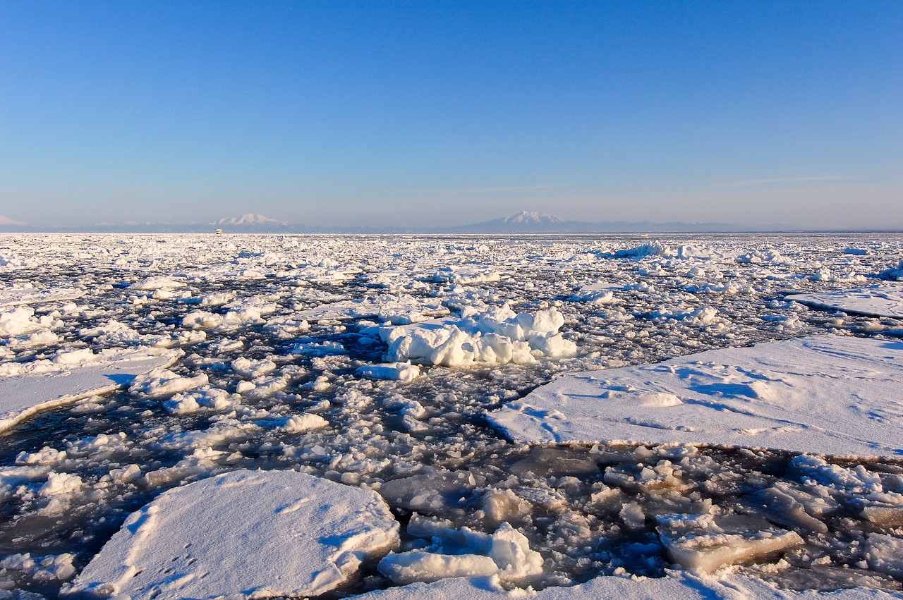 Drift ice on Sea of Okhotsk