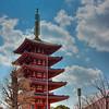 Five story Pagoda on the grounds of Senso-ji Temple in Asakusa, Tokyo