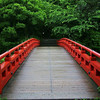 The bridge in the Sankeien gardens.