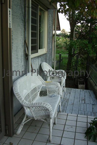 Back Porch, Omi-Imazu Countryside, Shiga-ken, Japan