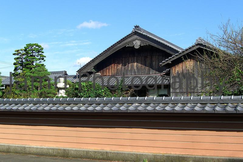 Temple and Wall, Omi-Imazu, Shiga-ken, Japan