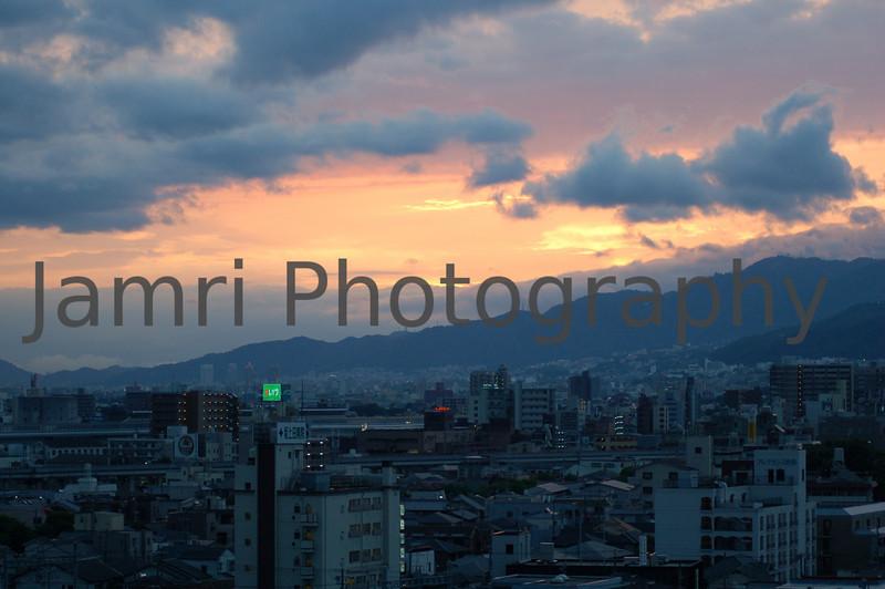 Sunset in Nishinomiya, Hyogo-ken, Japan