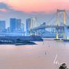 Rainbow bridge, view from Odaiba, Tokyo