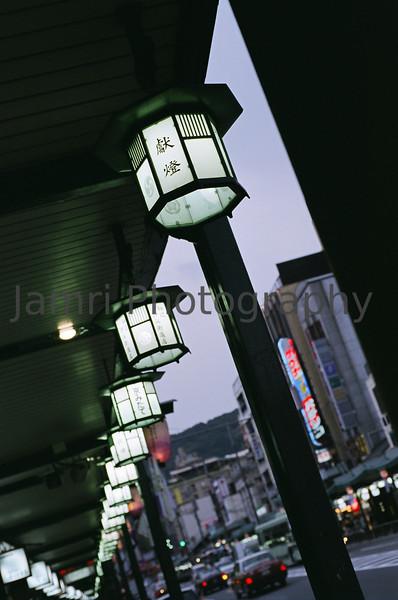 A row of lanterns, Gion, Kyoto, Japan<br /> Photo Taken: 19/03/2009<br /> Equipment Used: Nikon F80 + AF50 f/1.8D Lens + Fujicolor PRO400 film (PN400N)