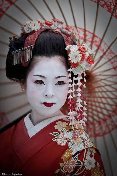 Geisha in Kyoto,