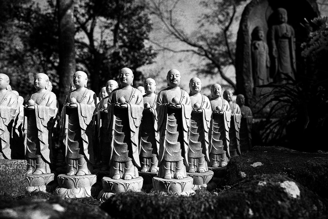 Each one of these little statues represents an aborted or stillborn child, and is placed there by families of the child. When a man there told me this I didn't understand (I've since confirmed the information). A memorial for a stillborn child I can understand completely, but my brain is unable to grasp the motive for the placing of a memorial statue in honor of a child deliberately aborted.