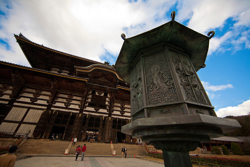 This is the largest wooden structure in the world, Todai-ji.