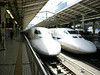 Shinkansen. The Bullet train. We took this from Tokyo to Kyoto [Leica D Lux]