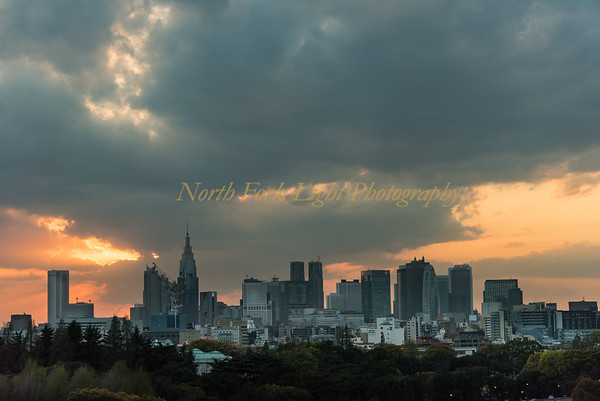 Sun Sets over Tokyo