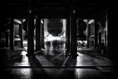 Asakusa Shadows  Asakusa Temple, Asakusa, Tokyo, Japan.