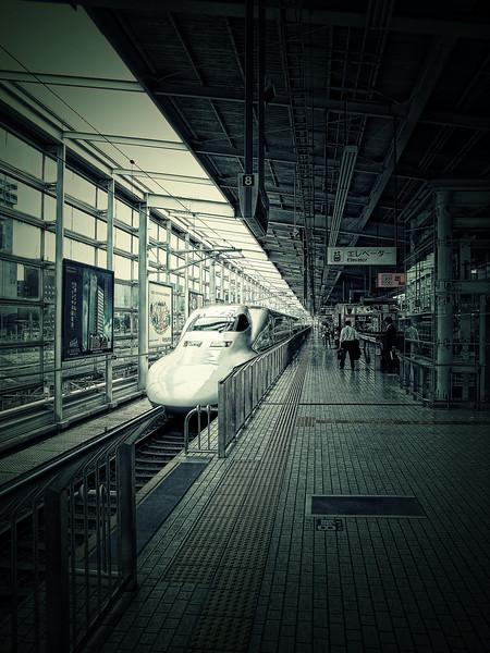 Shinkansen (Japanese Bullet Train) @ Kyoto (Japan)