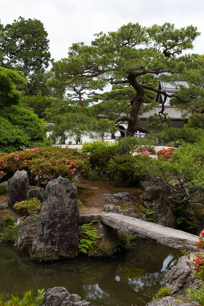 Ginkaku-ji Temple and surrounding garden