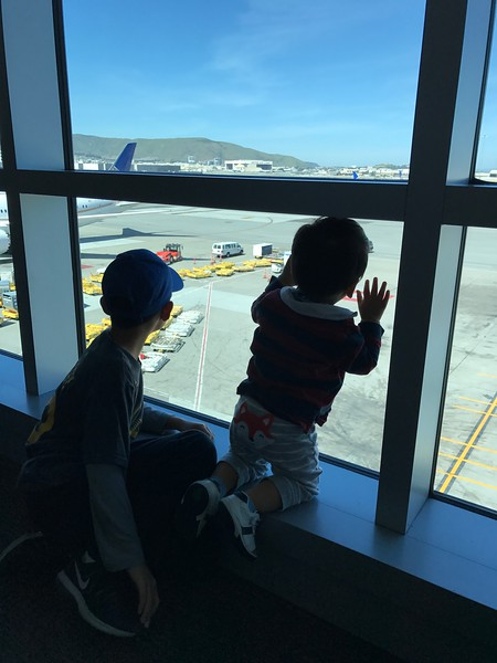 at SFO, waiting for the adventure to begin!