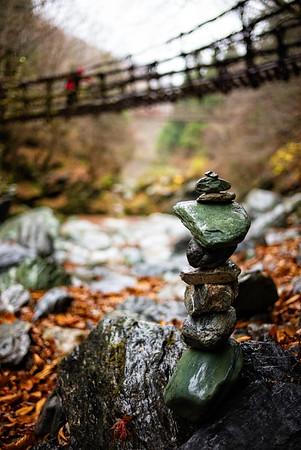 Oku-Iya Kazurabashi bridge over the Iya river (Iya Valley, Japan)