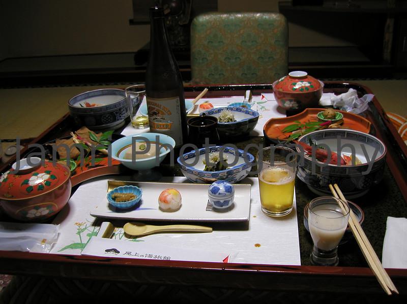 Dinner, Asama Town, Nagano-ken, Japan