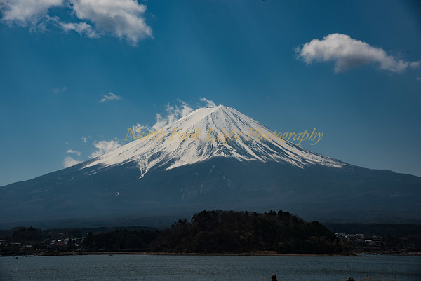 Mt Fuji from across the lake.