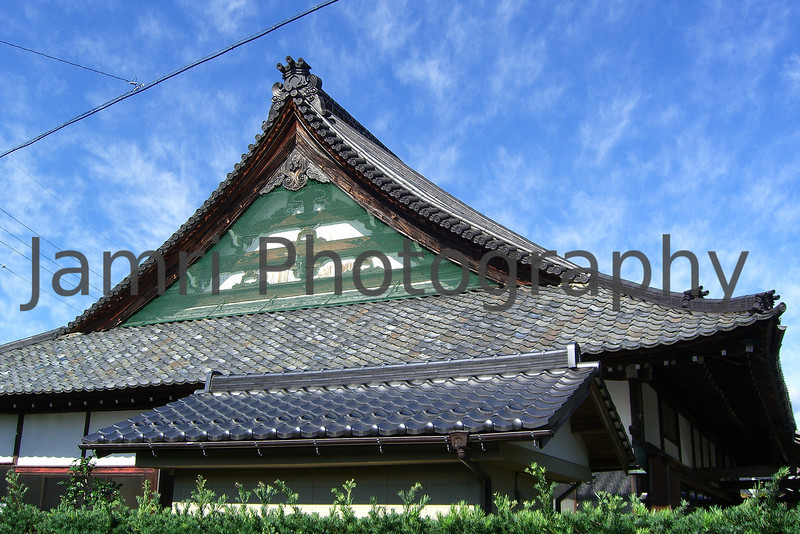 Temple Roof, Omi-Imazu, Shiga-ken, Japan