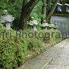 Lanterns and Stairway, Hiei-zan, Shiga-ken, Japan