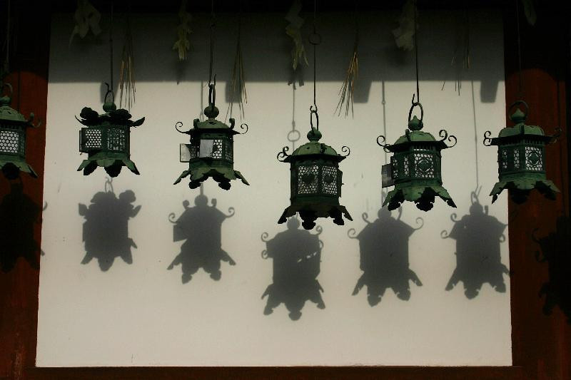 Lanterns at the Kasuga Taisha shrine in Nara.