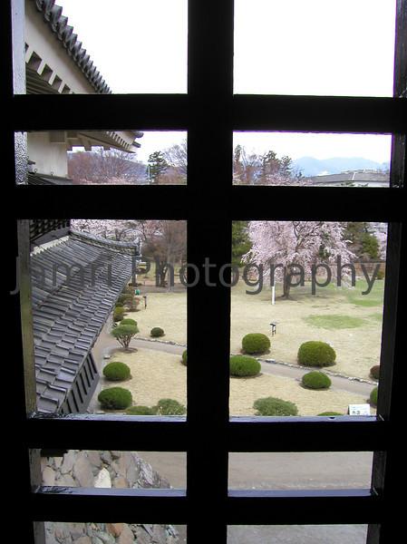 Through the castle window, Matsumoto, Nagano-ken, Japan
