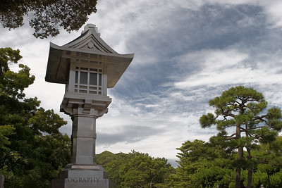 Silver Lantern  Kamakura, Japan.